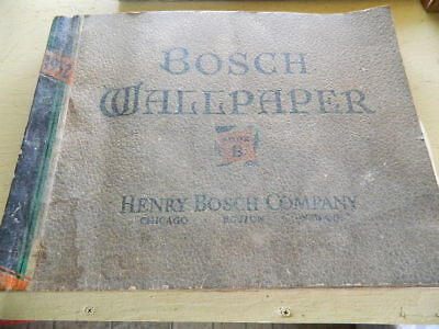 """Henry Bosch Co 1932 Wallpaper Sample Book Art Nouveau Awesome 118 pages Book """"B"""""""
