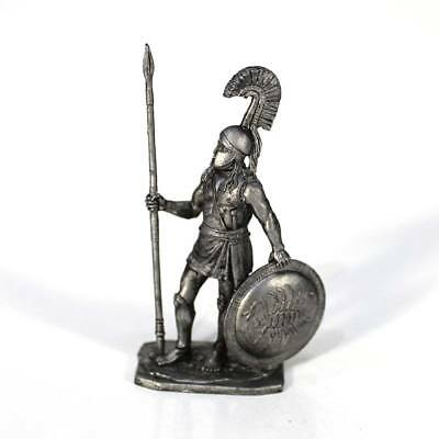 """Tin toy metal soldier """"Spartan Hoplite, 5th cent. BC"""" 1/32 (54mm) #A208"""
