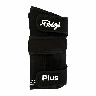 Bowling Ball Wrist Support Robbys Cool Max plus Black, with Metallschienen