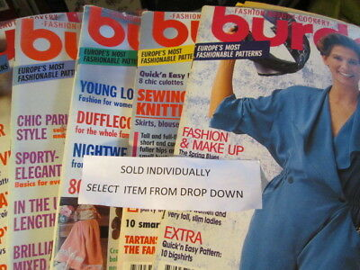 Burda English Text Sewing Magazine Issue Your Choice