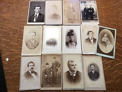 Antique small Cabinet Card lot Thirteen (13) Various Locations