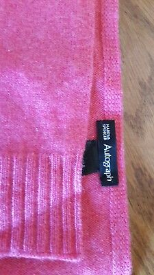 100% Cashmere, Marks and Spencer M&S Scarf Pink, Autograph, Super Soft And Warm!