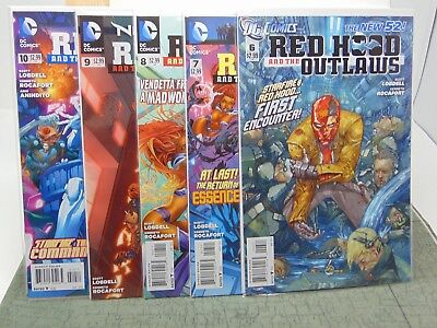 Red Hood and the Outlaws #6, 7, 8, 9 & 10 the New 52 D.C. Comics  CB5784