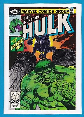 "Incredible Hulk #261_July 1981_Near Mint Minus_""again The Absorbing Man""!"