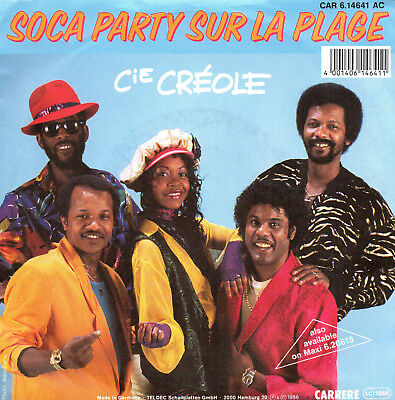"LA COMPANIE CREOLE Soca Party on the Beach cie creole - carrere 7""single germany"