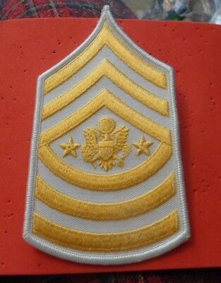 SERGEANT MAJOR OF THE ARMY WHITE CHEVRON,  current  one chevron  5.5""