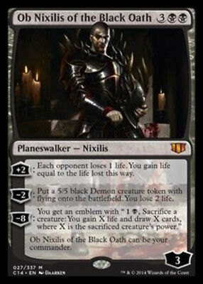 MTG 1x  Ob Nixilis of the Black Oath Light Play Commander 2014 English