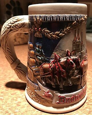 Budweiser Oktoberfest Beer Collector Stein Mug 1993 3rd In Series Numbered