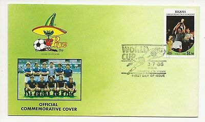 Grenadines St Vincent - Bequia FDC -  World Cup Mexico 1986  (3550) (X)