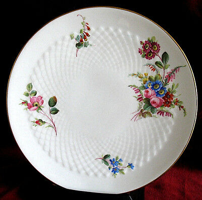 ANTIQUE HAND PAINTED MINTON CABINET PLATE 1882 MADE for MORTLOCK's OXFORD STREET