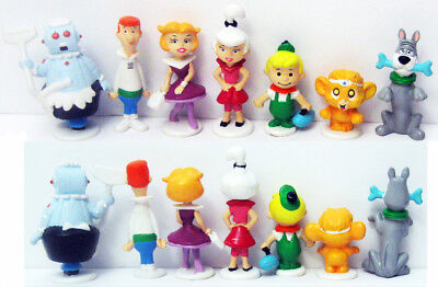 Complete Set 7 Hanna Barbara Applause Jetsons Pvc Rosie Squeep Astro Judy George