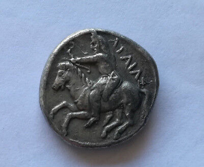 ancient greek silver coin agaias unresearched !
