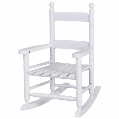 Pleasing White Wood Kid Children Slat Rocking Chair Porch Bedroom Creativecarmelina Interior Chair Design Creativecarmelinacom