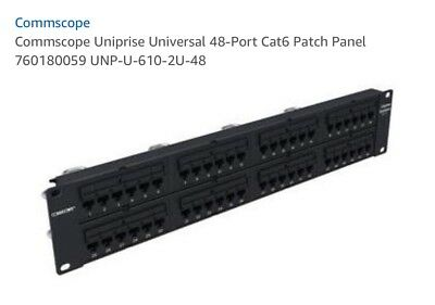 Shop For Cheap New Commscope Uniprise 48-port Angled Cat5 Patch Panel Pn# Unp500-ang-48p Enterprise Networking, Servers Computers/tablets & Networking