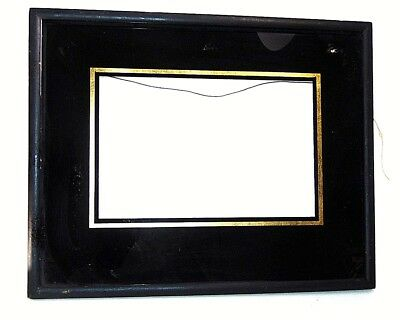 ⛪Vintage Art Deco Reverse Painted Glass Frame Picture Gold Gilt 15X12 Boyce Home