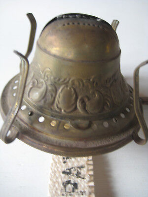 "Fancy Bridgeport Brass ""THE UPTON"" Oil Lamp Burner 1892"