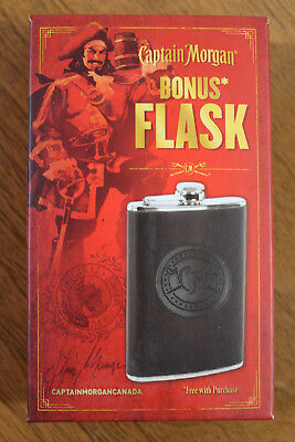 Captain Morgan 5oz Stainless Steel Collectible Rum Flask