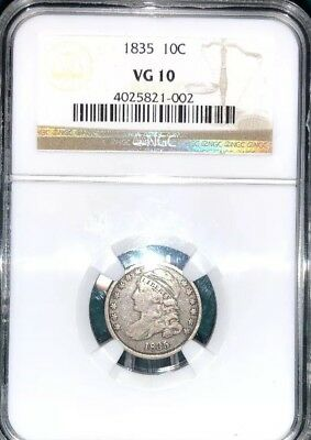 1835 Capped Bust Dime Great Eye Appeal NGC VG10