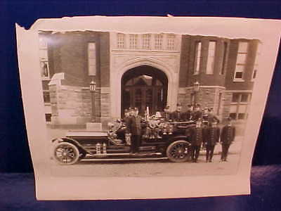 2 Orig 1918 PANAMA CANAL Zone FIRE DEPARTMENT PHOTOS w Truck etc