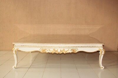 Marbre Baroque Table Or Blanc Barocktisch Table Basse Table Basse