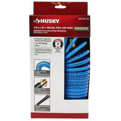 Husky 1/4 in. x 25 ft. Polyurethane Recoil Air Hose