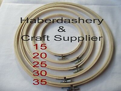 Birch Bamboo Embroidery Hoop With Screw Choose Size*15-20-25-30-35Cm