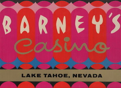 I have a c1960s menu from Barney's Casino South Shore Lake Tahoe, Nevada