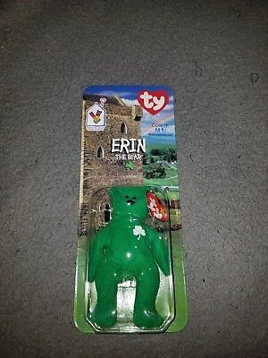 Erin The Bear Ty Teenie Beanie Mcdonalds Charity Rare Tag Errors