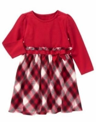NWT Gymboree HOLIDAY SHOP Sz 4T Red and Plaid Bow Dress Girl NEW
