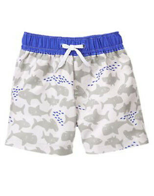 NWT Gymboree FIRST PLAYDATE Size 18-24 M Shark Swim Trunks Swim Shop