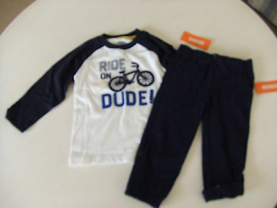 NWT Gymboree SUNNY SPORTS Size 2T Ride Dude On Tee & Navy Rollup Pants