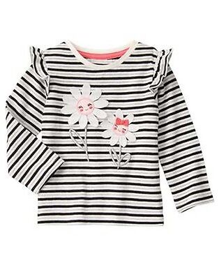 NWT Gymboree KITTY IN PINK Sz 2T Striped Daisy Tee Long Sleeve NEW