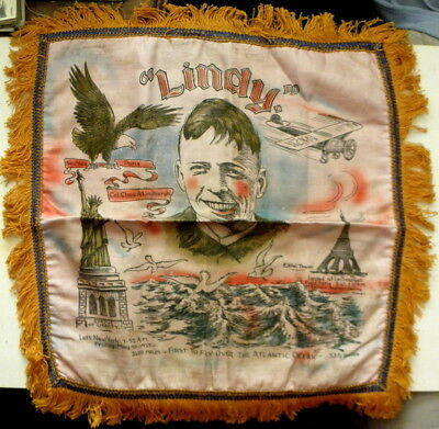c1920s Charles Lindbergh tapestry Lindy First To Fly Over The Atlantic