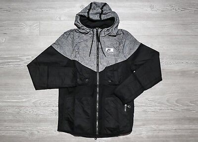 Nike International Windrunner Hooded Jacket Black grey 831130-010 Retail   140.00 296e61f574