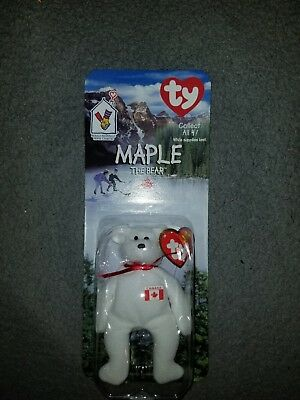 Rare Maple The Bear Ronald Mcdonald House Plush Beanie Baby Bear. Date Errors