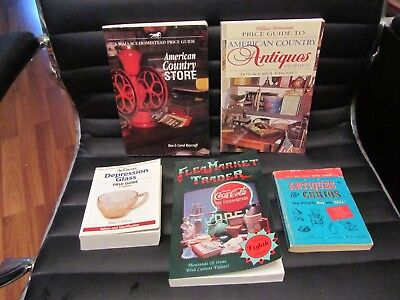 Lot Of 5 Antique And Collector Handbook & Price Guides American Country & Others