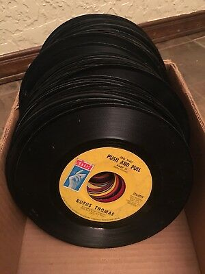 "Lot Of 100 ASSORTED 45's Records for CRAFTING & HOBBY DECORATION 7"" 45 rpm"