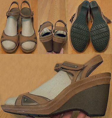 66653d2a5e3 Privo By Clarks Brown Leather Slingback Wedge Sandals Women s US 11 M