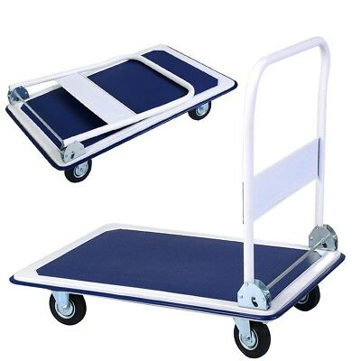 660lbs Platform Cart Dolly Folding Foldable Moving Warehouse Push Hand Truck US