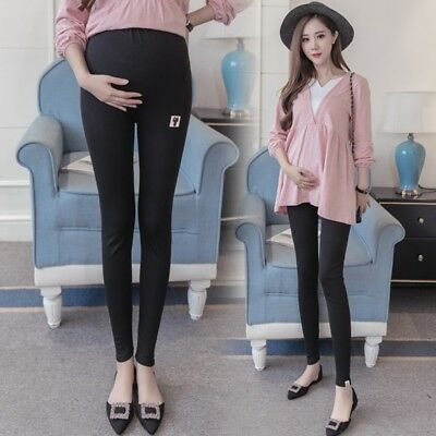 Womens Super Soft Stretch Modal Pants Pregnancy Maternity Belly Support Leggings