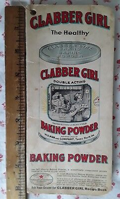 Vintage c1920s Clabber Girl Baking Powder Advertising Want Book Notebook