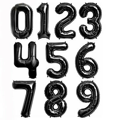 """32"""" Numbers 0-9 Giant Foil Balloons Number Helium Air Balloon Glitz Birthday Dec"""