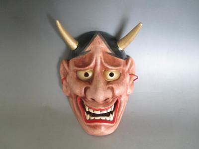 Japanese Pottery Noh mask/ Hannya/ very nice work/ 7888