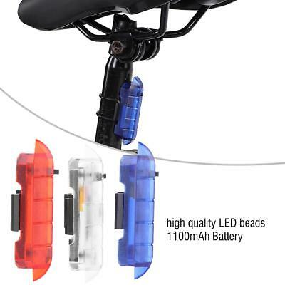 Bicycle Bike Rear Tail Light 5 LED 4 Modes Warning Cycling Lamp USB Rechargeable