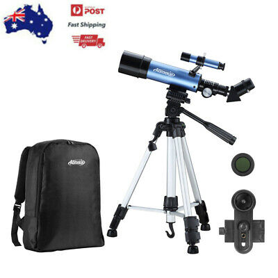 AOMEKIE Astronomical Telescope 70mm Lens with High Tripod Phone Holder Backpack