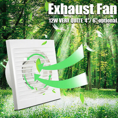 """MECO 4"""" 6'' Silent Wall/Ceiling Extractor Ventilation Fan For Bathroom Kitchen"""