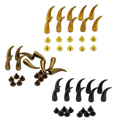 10 Sets Screw Bullet Design Rivet Studs Rock DIY Leathercraft Accessories