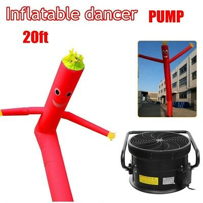 6M Air Dancer Sky Inflatable Tube Air Puppet Wind Flying Advertising + Blower