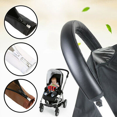 PU Leather Baby Pram Pushchair Handle Protective Cover Infant Stroller Accessory