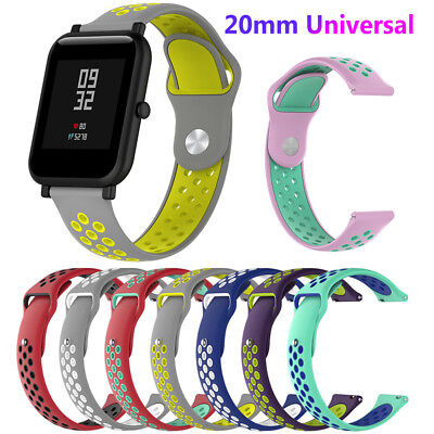 20mm Silicone Strap Wrist Smart Band for Amazfit Bip Samsung Gear Sport S2 Newst